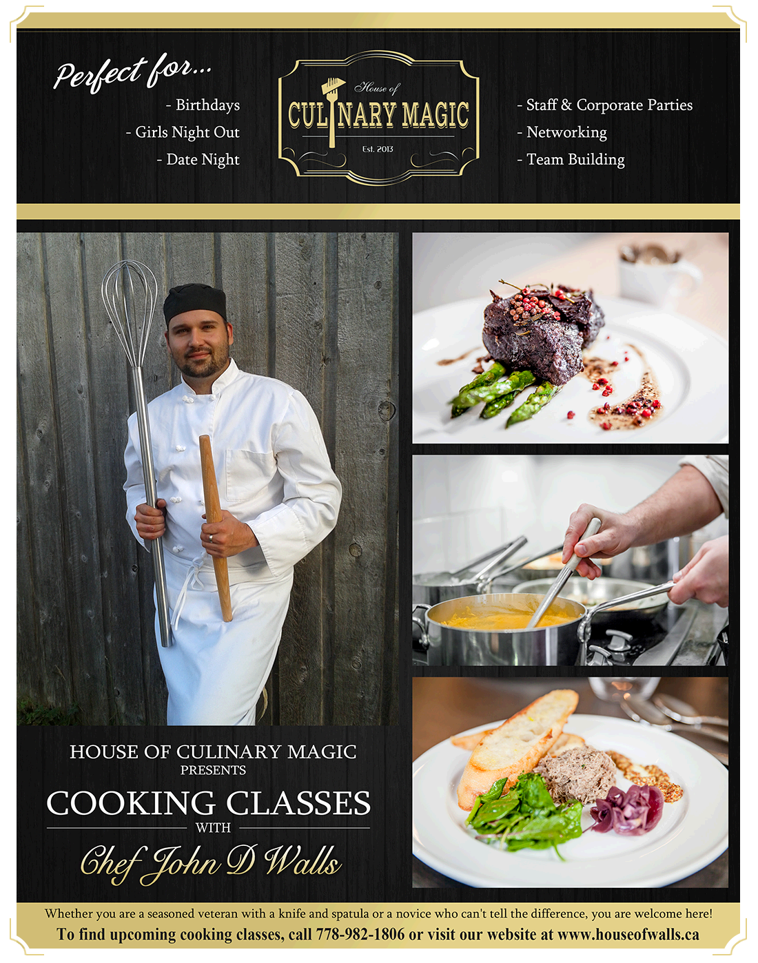 House Of Walls Cooking Classes